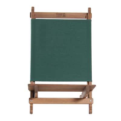 Green Fabric Outdoor Safe Folding Lounger Chair