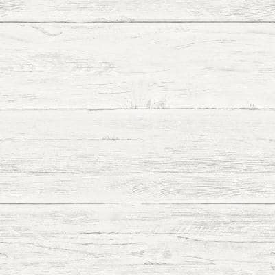 Shiplap Vinyl Peel & Stick Wallpaper Roll (Covers 30.75 Sq. Ft.)
