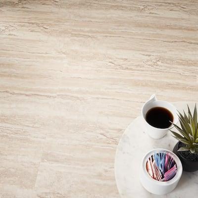 Duren 28mil Riverstone Crema 18 in. x 36 in. Glue Down Luxury Vinyl Tile Flooring (36 sq. ft.)
