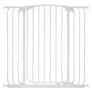 Chelsea 39.4 in. H Extra Tall and Extra Wide Auto-Close Security Gate in White