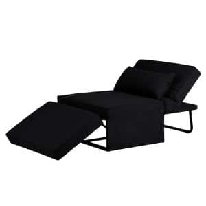 Madison Convertible Ottoman Chaise Lounge in Charcoal