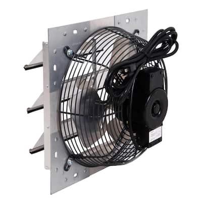900 CFM Shutter Exhaust Fan Wall Mounted