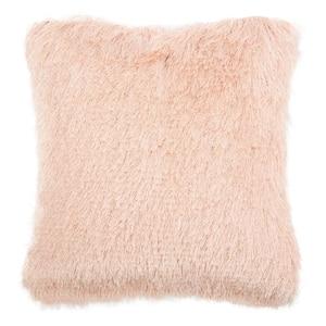 Cali Shag Blush 20 in. x 20 in. Throw Pillow