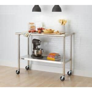 EcoStorage 48 in. NSF Stainless Steel Table with Wheels