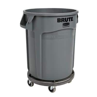 Brute Trash Can Dolly with Brute 44 Gal. Trash Can