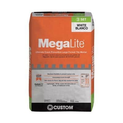 MegaLite 30 lb. White Crack Prevention Mortar