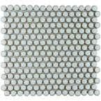 Hudson Penny Round Silk White 12 in. x 12 in. Porcelain Mosaic Tile (10.74 sq. ft. / Case)