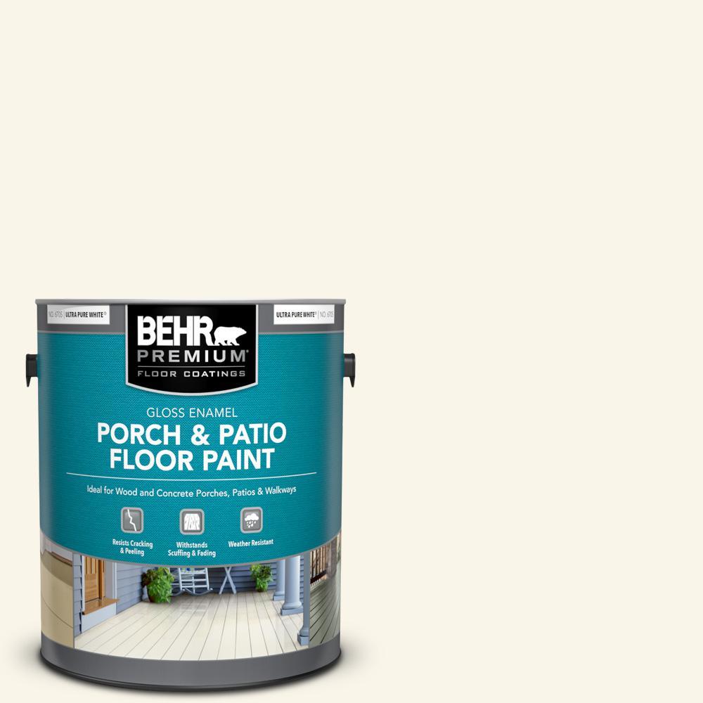 1 gal. #W-B-400 Vermont Cream Gloss Enamel Interior/Exterior Porch and Patio Floor Paint