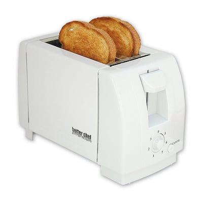 2-Slice White Wide Slot Toaster