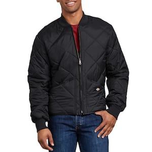 Men's Black Diamond Quilted Nylon Jacket