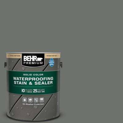 1 gal. #SC-131 Pewter Solid Color Waterproofing Exterior Wood Stain and Sealer