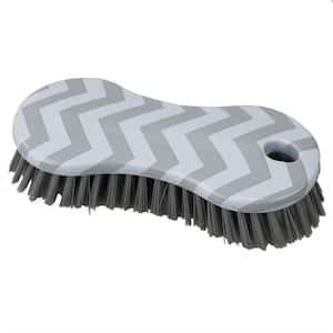 Chevron Multi-Purpose Plastic Scrub Brush, Grey