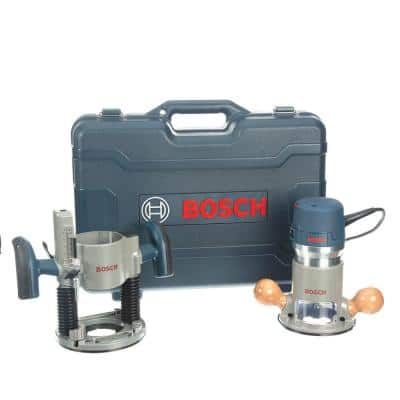 12 Amp 2-1/4 in. Corded Peak Variable Speed Plunge and Fixed Base Router Kit with Hard Case