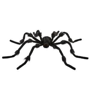 3 ft. Posable Black Halloween Furry Spider