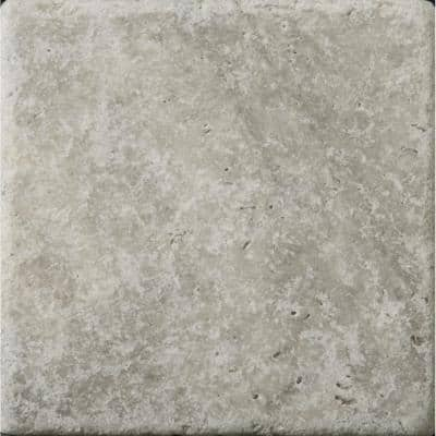 Trav Ancient Tumbled Silver 5.91 in. x 5.91 in. Travertine Wall Tile