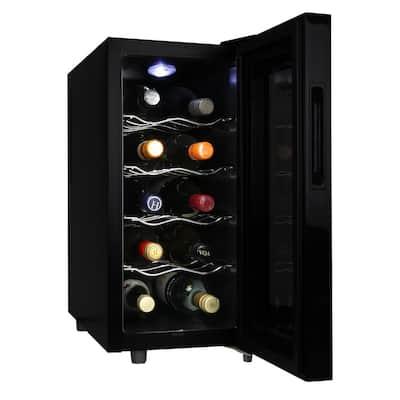 10-Bottle Wine Cellar, Touch Control in Black