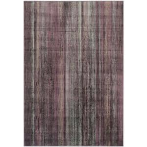Vintage Charcoal/Multi 8 ft. x 11 ft. Striped Area Rug