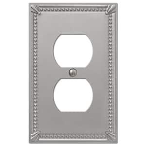 Imperial Bead 1 Gang Duplex Metal Wall Plate - Brushed Nickel