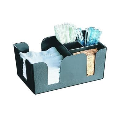 9.50 in. x 6.06 in. x 4.18 in. Styrene Bar Caddy Combination Holder in Black (Case of 12)
