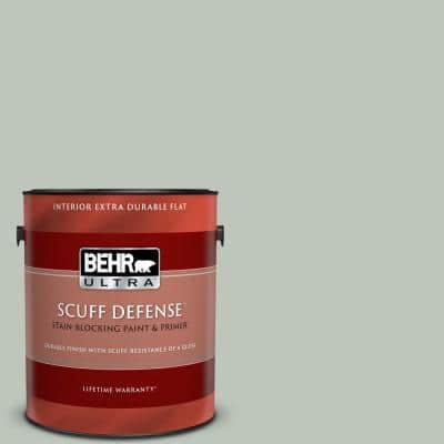 1 gal. #N410-3 Riverdale Extra Durable Flat Interior Paint & Primer