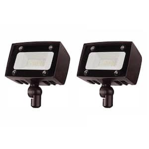 150-Watt Equivalent Integrated Outdoor LED Flood Light, 2000 Lumens, Outdoor Security Light (2-Pack)
