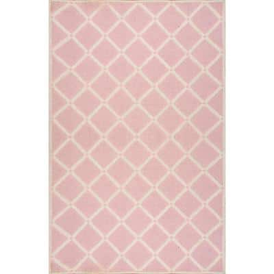 Takako Geometric Pink 4 ft. x 6 ft. Area Rug