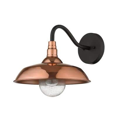Burry 1-Light Copper Outdoor Wall Sconce