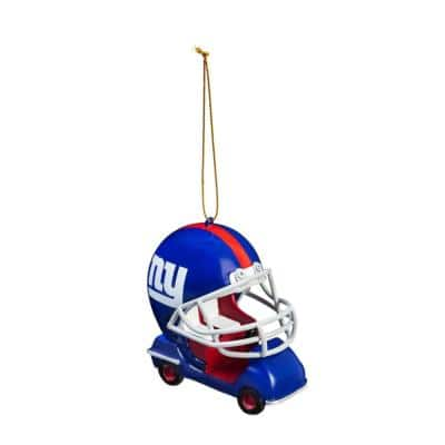 New York Giants 3 in. NFL Field Car Christmas Ornament
