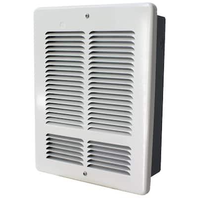 W 1200-Watt/600-Watt 4094 BTU Electric Wall Heater 240-Volt White