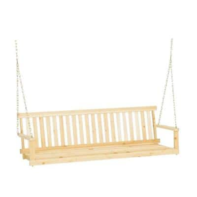 5 ft. Hardwood Porch Swing with Chains