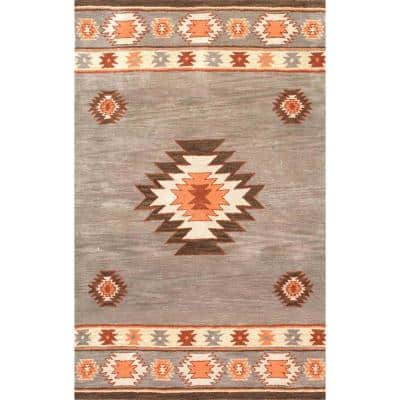 Shyla Abstract Sage 2 ft. x 3 ft.  Area Rug