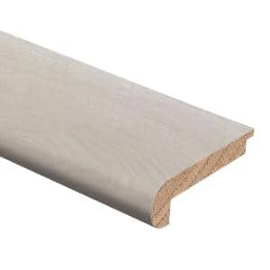 Zamma Oak Driftwood Wire Brushed 3 8 In Thick X 2 3 4 In Wide X 94 In Length Hardwood Stair Nose Molding Flush 014384082760e The Home Depot