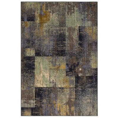 Empire Periwinkle 3 ft. x 5 ft. Geometric Area Rug