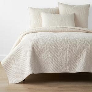 Company Cotton Buff Solid King Quilt