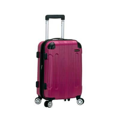 London Expandable 20 in. Hardside Spinner Carry On Luggage, Magenta
