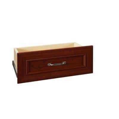 Impressions 22 in. W x 9 in. H Dark Cherry Wood Drawer Kit for 25 in. W Impressions Tower