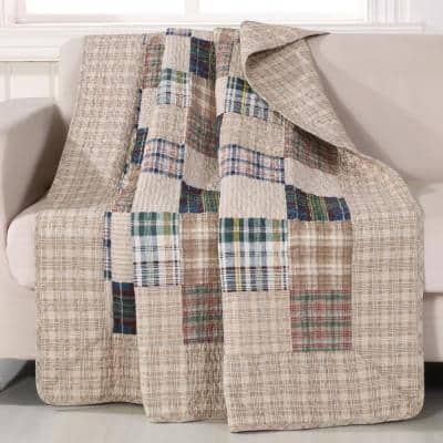 Oxford Multi Quilted Cotton Throw