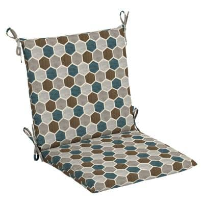 20 in. x 20 in. Charleston Hex Outdoor Mid Back Dining Chair Cushion (2-Pack)
