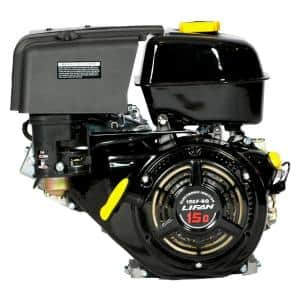 1 in. 15 HP 420cc OHV Electric Start Horizontal Keyway Shaft Gas Engine with 18 Amp Charger