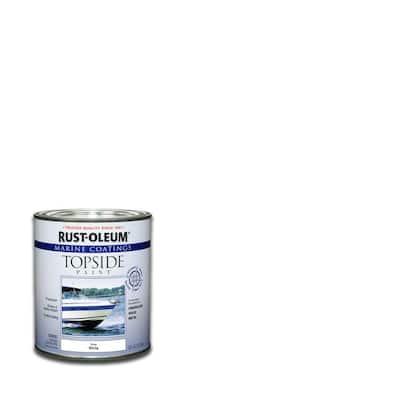 1 qt. Gloss White Topside Paint (4-Pack)
