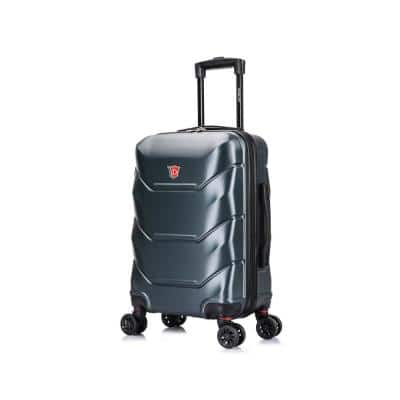 Zonix 20 in. Green Lightweight Hardside Spinner Carry On