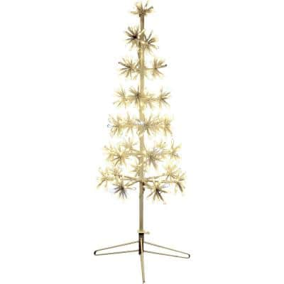 36 in. Christmas Metal Framed Decorative Tree with Metal Base and Twinkle Lights