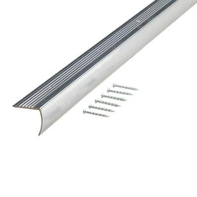 1.125 in. x 96 in. Metal Polished Stair Edging