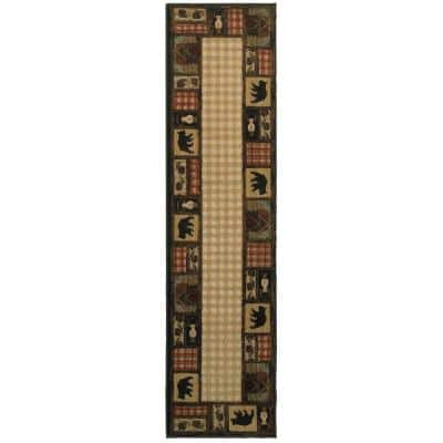 Mountain Top Beige 2 ft. x 8 ft. Cabin Runner Rug