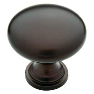 Classic Round 1-1/4 in. (32 mm) Dark Oil Rubbed Bronze Hollow Cabinet Knob (24-Pack)