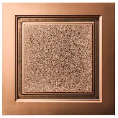 Westport 2 ft. x 2 ft. Lay-in Ceiling Tile in Antique Bronze (40 sq. ft. / case)