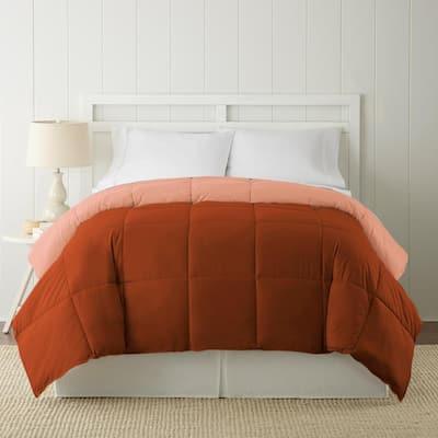 Down Alternative Rust/Clay King Reversible Comforter