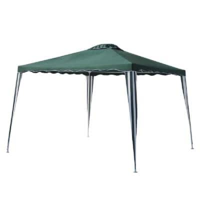 10 ft. x 10 ft. Green Gazebo Tent