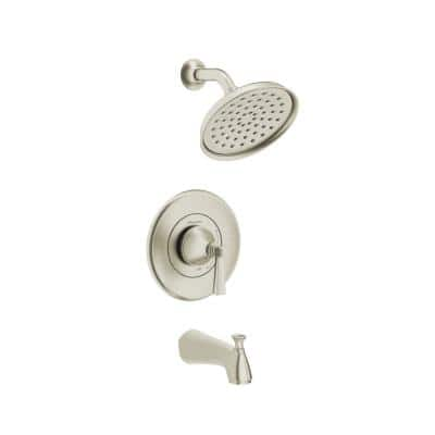 Rumson Single-Handle 1-Spray Tub and Shower Faucet with 1.8 GPM in Brushed Nickel Valve Included