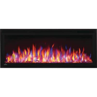 Entice 42 in. Wall-Mount Electric Fireplace in Black